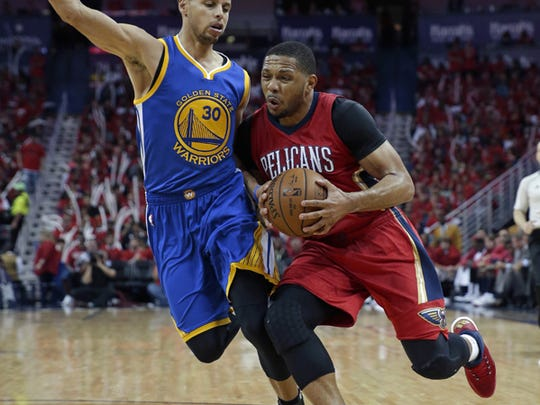 His Pelicans were swept by the Warriors in the first round, but Eric Gordon played well overall in his first playoff series.