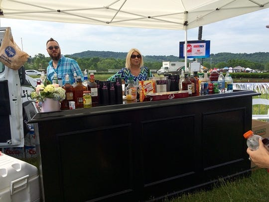 People had full-service bars at Steeplechase.