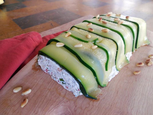 Zucchini and Pesto Terrine