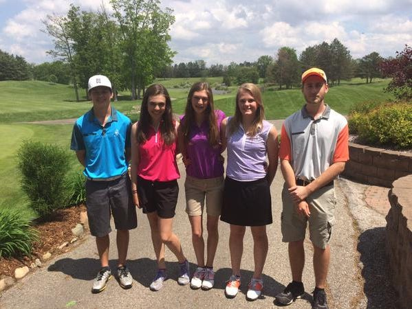 The Pentwater High School varsity boys golf team features three girls. (May 28, 2015)