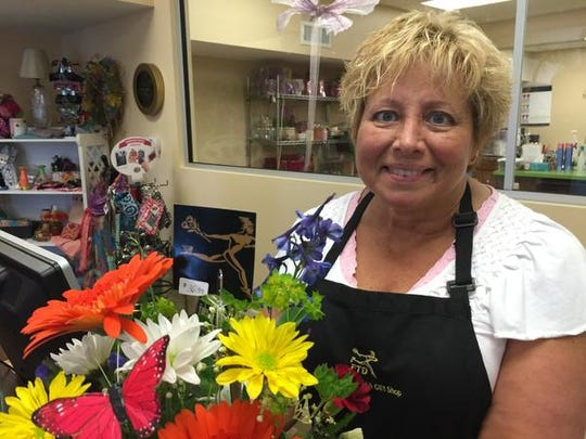 Sally Stutsman, the owner of Goshen Floral and Gift