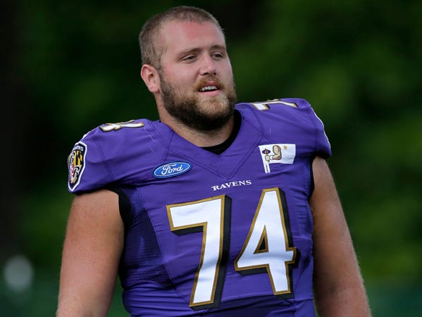 James Hurst, Plainfield, Ravens offensive lineman