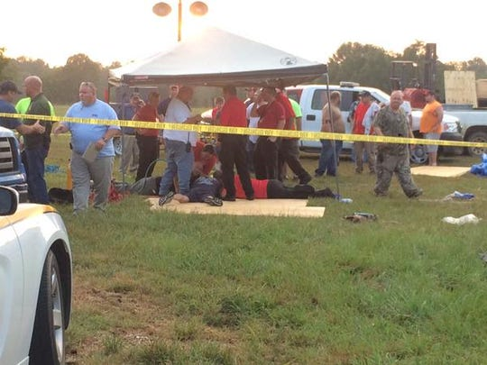 Emergency personnel are working to rescue a 4-year-old child trapped in a well in Lincoln County.