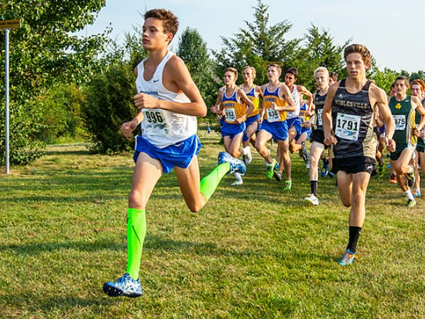 Hamilton Southeastern cross country runner Gabe Fendel