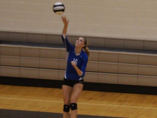 Hamilton Southeastern volleyball player Hayden Huybers.
