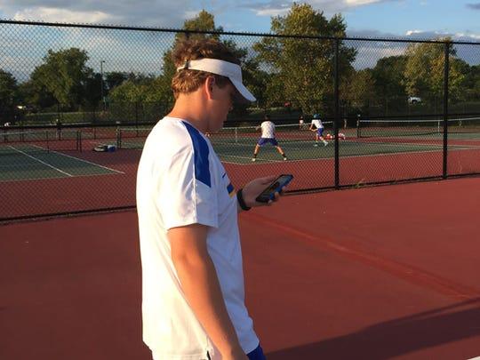 Carmel tennis player Patrick Fletchall