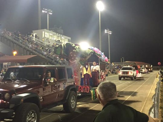 Homecoming floats making the rounds at Northview.