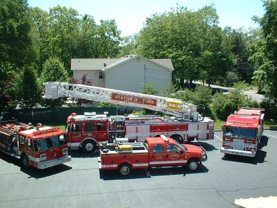Lincroft Fire Company's fleet of firefighting apparatus.