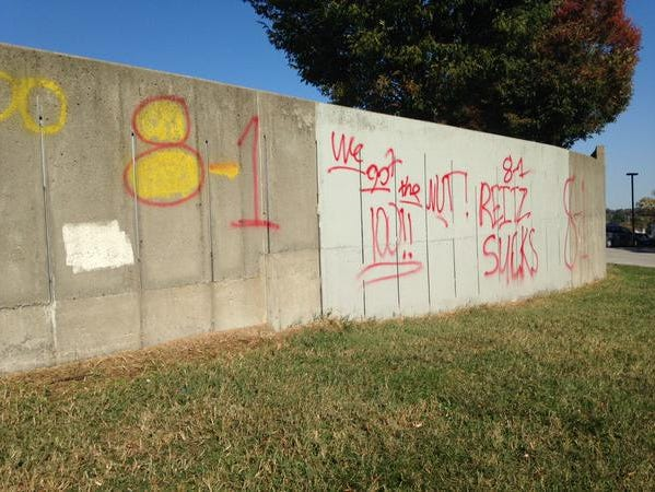 Evansville's Reitz was vandalized extensively, with authorities believing that rival Mater Dei may be responsible.