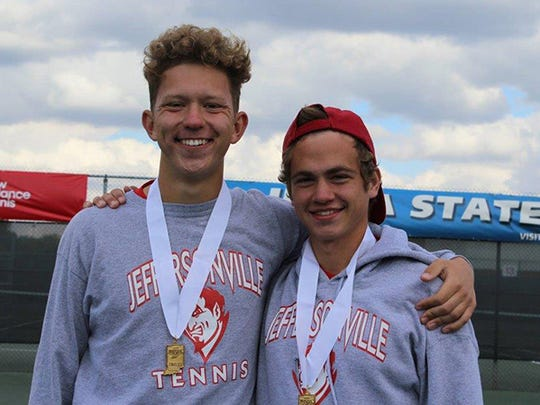Jeffersonville tennis players Jackson Reilly and Sam