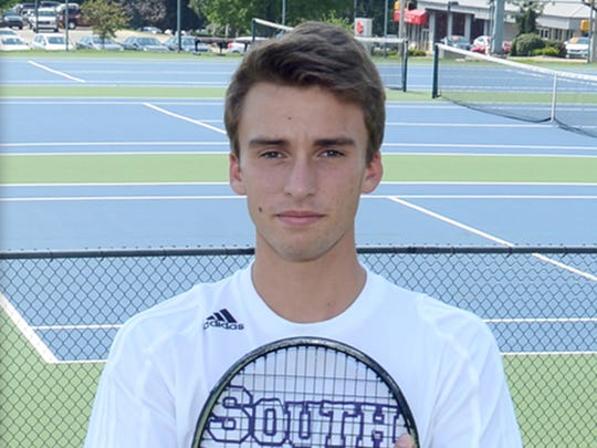 Bloomington South tennis player Will Piekarsky