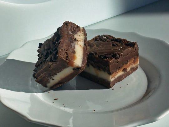Truckee River Sludge from Scheels combines chocolate and vanilla fudges.