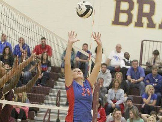 Western Boone volleyball player Lexie Raby