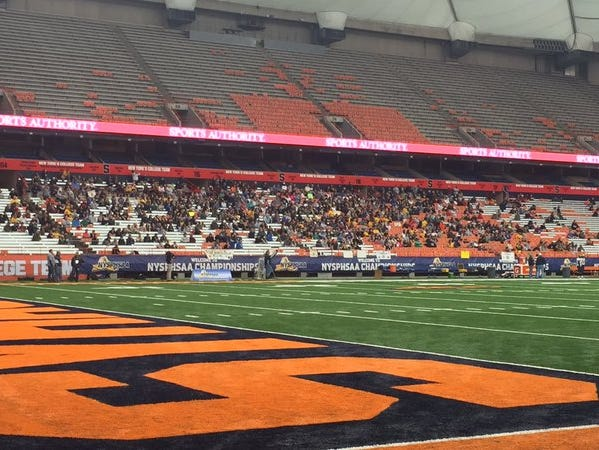 Our Lady of Lourdes High School is facing South Park in the Class A football title game at Syracuse's Carrier Dome Friday.