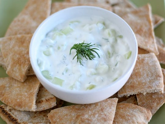 Tzatziki is a refreshing change from the usual holiday