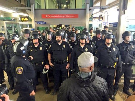 Minneapolis Airport protest