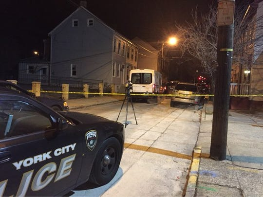The scene of the reported shooting on South Hartley Street in York.