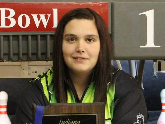 Eastside High School bowler Briana Marquis