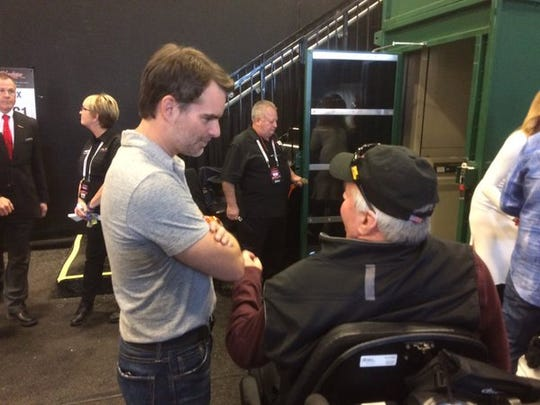 NASCAR racer Jeff Gordon attended the 2016 Barrett-Jackson collector-car auction in Scottsdale on Saturday, Jan. 30.
