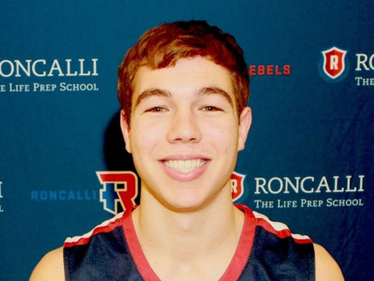 Roncalli basketball player Christian Stewart