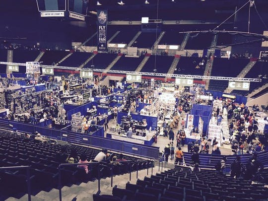 The Pensacon floor is bustling with activity.