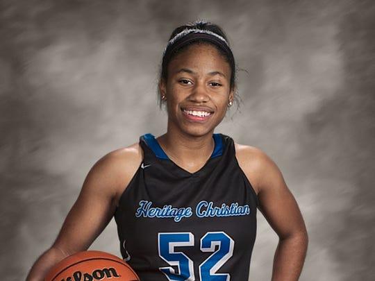 Heritage Christian basketball player Tyasha Harris