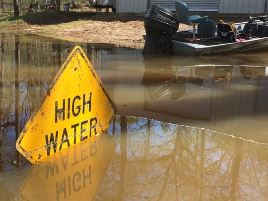 Flooding at Lake Bistineau