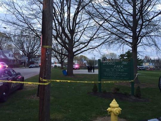 Three victims reported at a shooting at Girard Park.