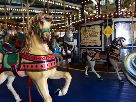 The carousel in Seaside Heights was built in 1910 and