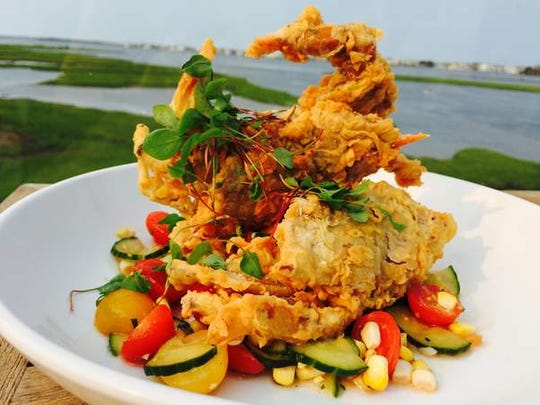 Soft-shell crab prepared at SoDel Concepts' restaurant Catch 54 in Fenwick Island.