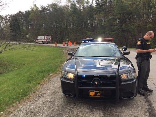 Police near Peebles, Ohio, investigated the reported