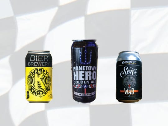Row 3, from left, Special K Kolsch, Hometown Hero golden