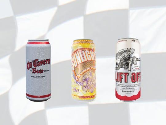 Row 8, from left, Ol' Tavern lager, Sunlight cream