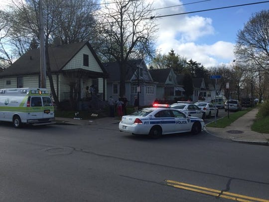 Police on scene of reported stabbings in Rochester Tuesday morning.