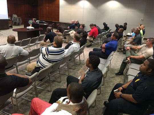 Police from the Central Mississippi Crime Stoppers coverage area meet for training in Madison.
