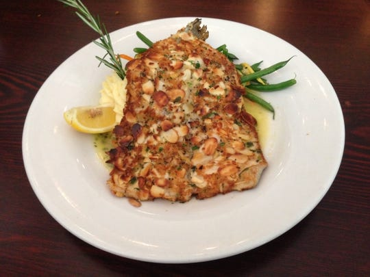 The Hunter's Grill's  trout almondine with lemon white wine butter sauce.