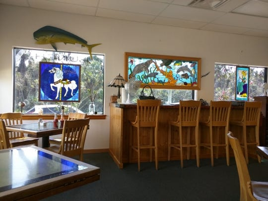 Long Point Cafe is a bright and cheery place with lots of light oak paneling and trim work.