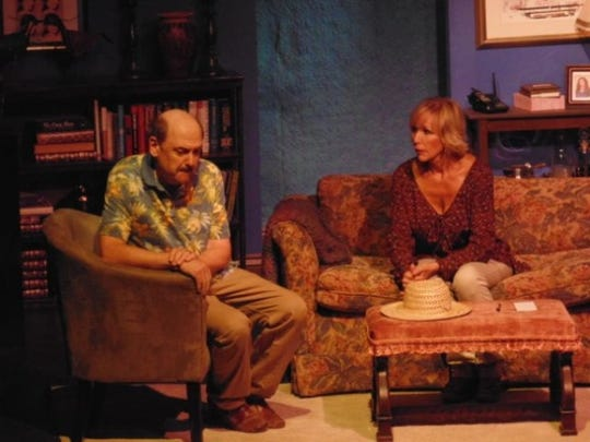"""Michael Beecher and Meredith Osborn star in the Barn Theatre's """"Chapter Two."""""""