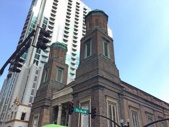 The Downtown Presbyterian Church in Nashville sits