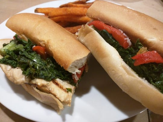 Cucina 37's Filagia hot sandwich had kale, roasted