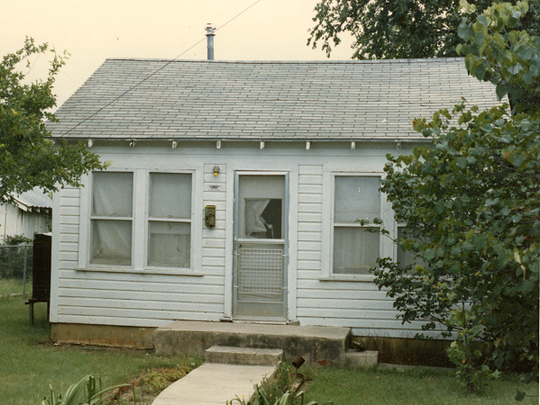The house where Dovie Dykes died in 1986.