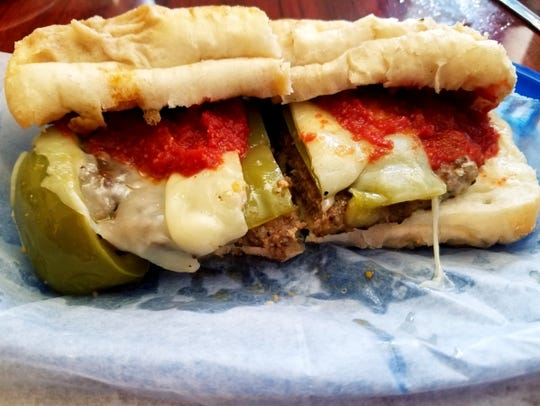The signature sausage sandwich, found only at Pusateri's,