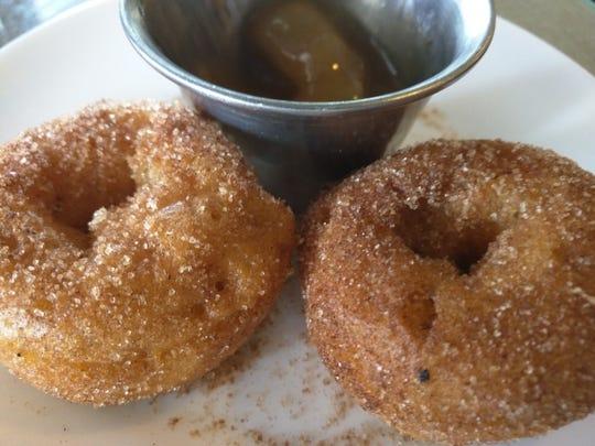 Baked apple cider doughnuts.