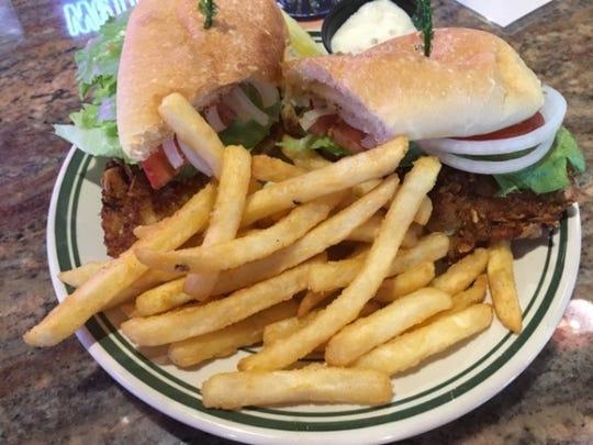 Chubbies' crunchy snapper sandwich is a hand breaded