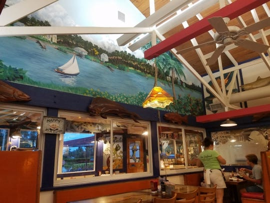 Inside the New England Fish Market and Restaurant in