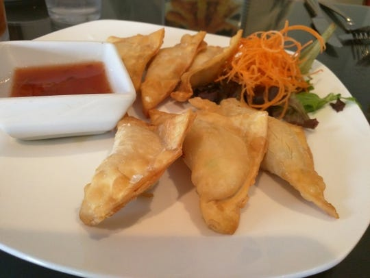 Taste of Asia's 'krab' rangoons. These American Chinese