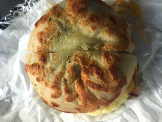 Bean & Bagel Cafe's pesto mozzarella bagel became a