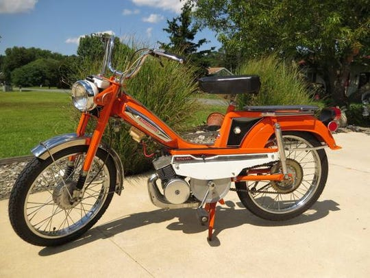 After: A 1976 Motobecane Moby moped, restored by Rob