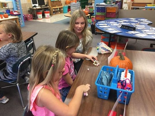 R.C. Waters Elementary School kindergartners learn