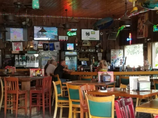 Charlie's Neighborhood Bar & Grill's outdoor covered